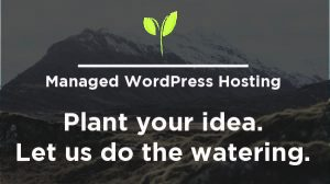Managed WordPress Hosting: Plant your idea. Let us do the watering.