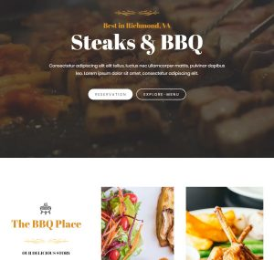Screenshot of a BBQ restaurant site made with the Astra theme