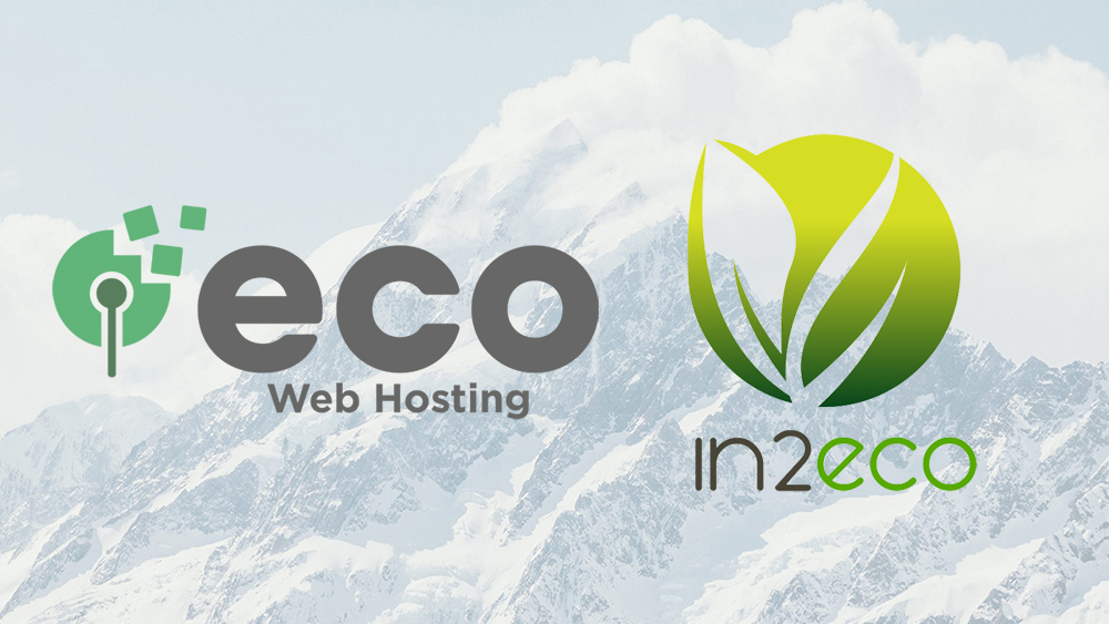 Eco Web Hosting and in2eco logos