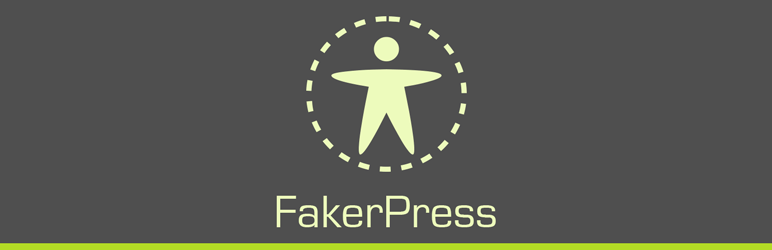 The banner image for the FakerPress WordPress plugin.