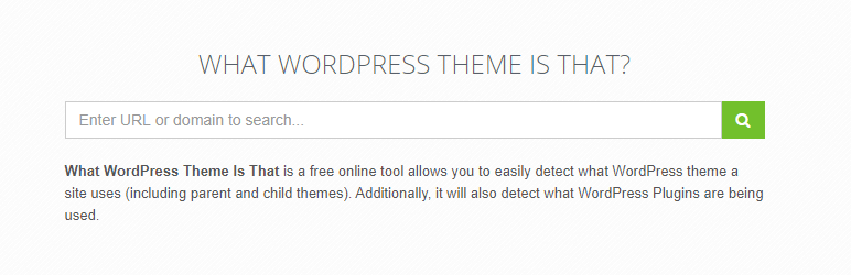 Screenshot of the What WordPress Theme Is That website.