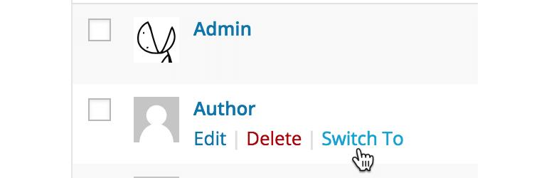 Screenshot of the User Switching WordPress plugin
