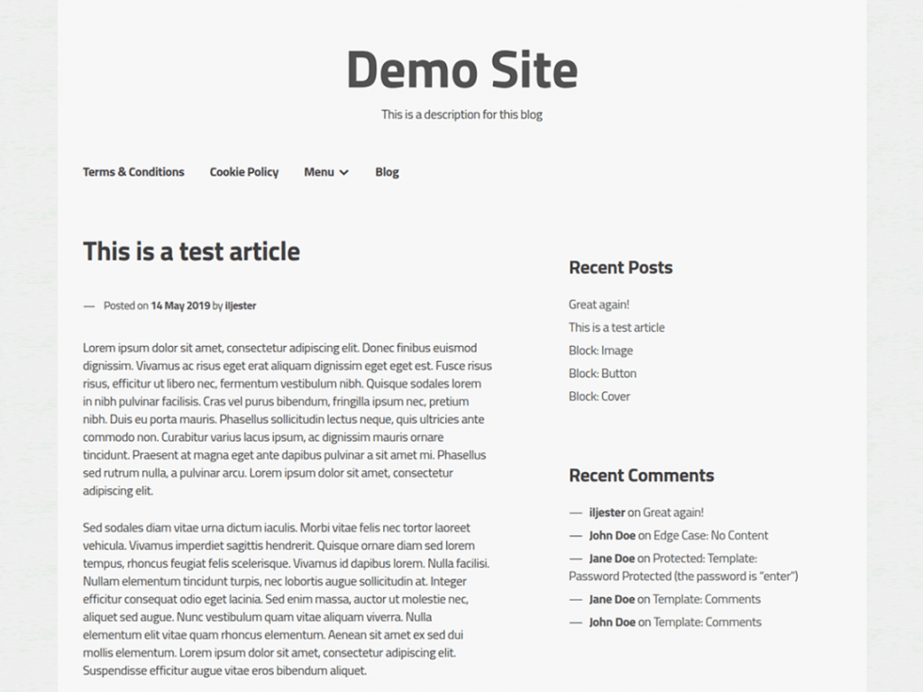 Screenshot of the XSimply WordPress theme