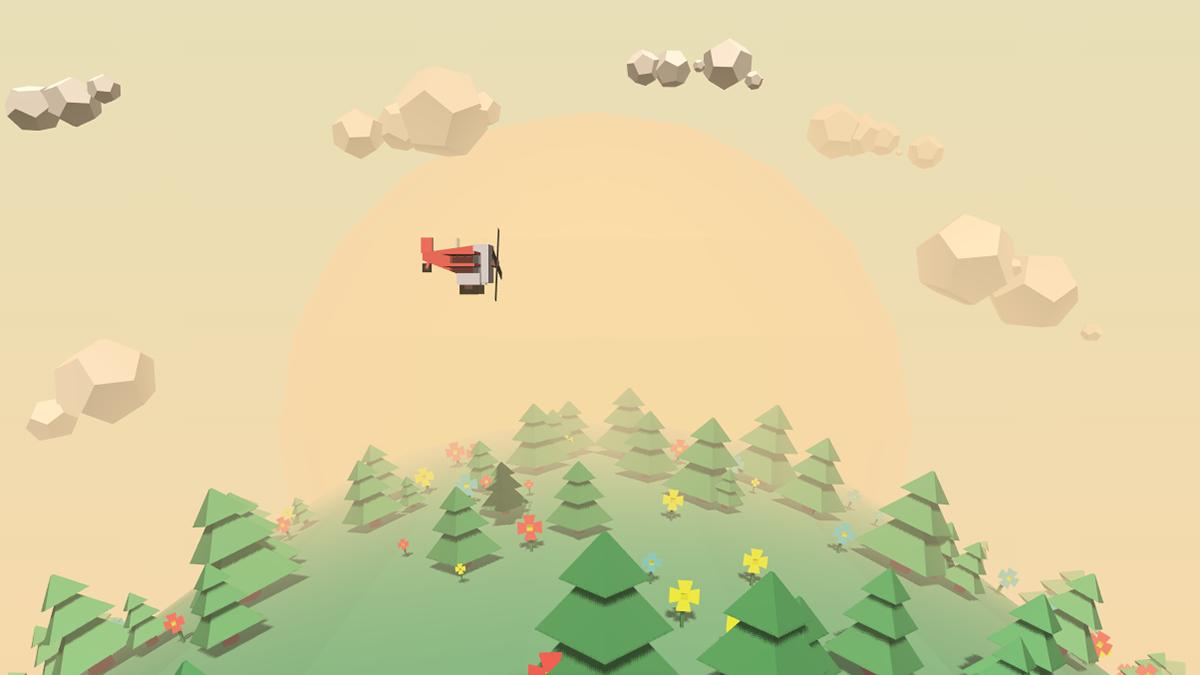 Screenshot of the TinyPolyWorld Codepen