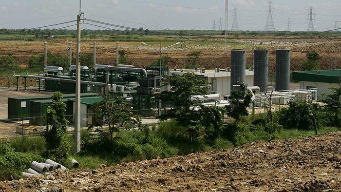 The Kamphaeng Saen West methane gas power plant in Nakhon Pathom, Thailand.