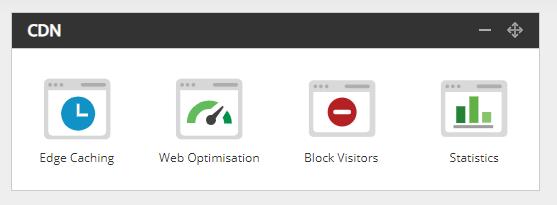 Screenshot of the CDN block in your hosting control panel