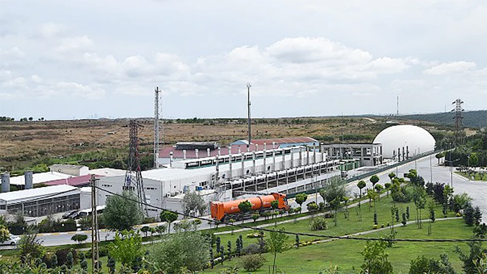 The methane gas power plant in Istanbul