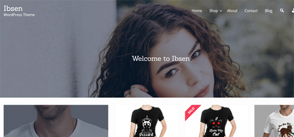 Screenshot of the Ibsen WordPress e-commerce theme