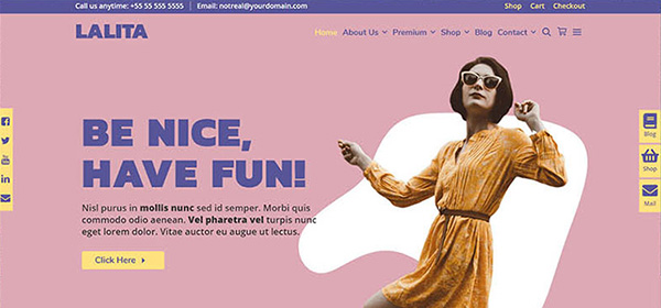 Screenshot of the Lalita WordPress e-commerce theme