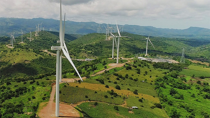 The Sidrap Wind Farm in South Sulawesi, Indonesia
