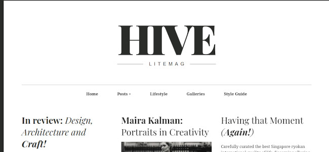 Screenshot of the Hive Lite WordPress theme