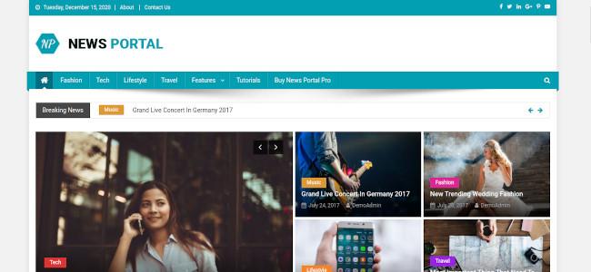 Screenshot of the News Portal WordPress theme