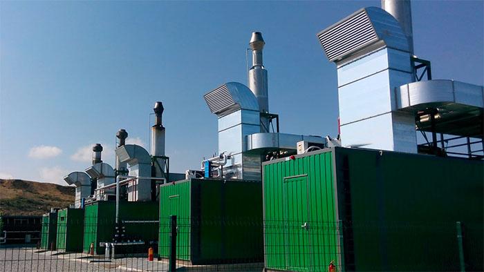Photo of the Samsun methane power plant