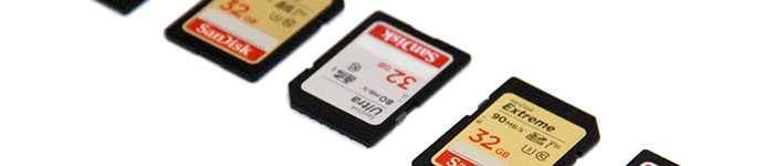 A collection of memory cards